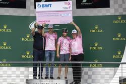 Lutz Hubner, BWT jefe Marketing, Esteban Ocon, Sahara Force India F1, Sergio Pérez, Sahara Force Ind