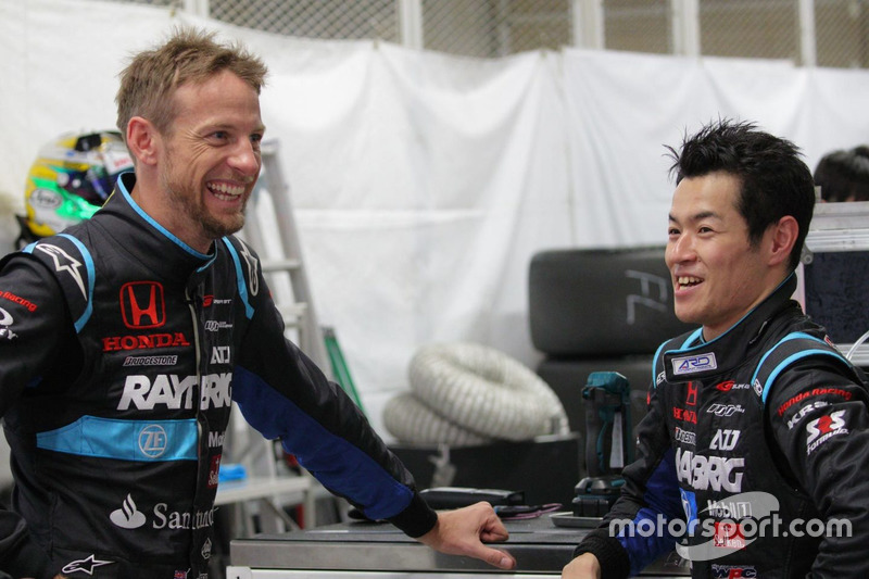 Jenson Button dan Naoki Yamamoto, #100 RAYBRIG NSX-GT