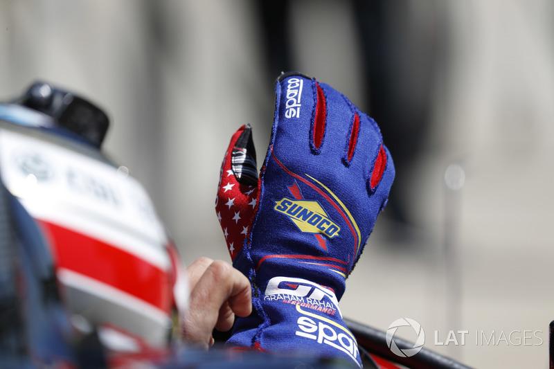 Un gant de Graham Rahal, Rahal Letterman Lanigan Racing Honda