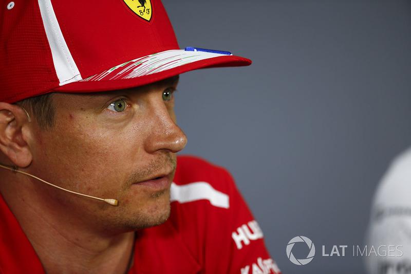 Kimi Raikkonen, Ferrari, en la conferencia de prensa