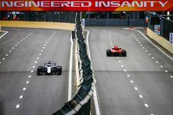 Sebastian Vettel, Ferrari SF71H, y Lance Stroll, Williams FW41 Mercedes