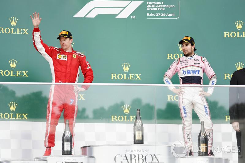 Kimi Raikkonen, Ferrari, Sergio Perez, Force India