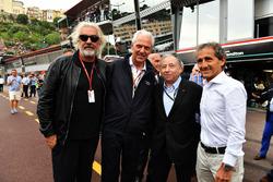 Флавио Бриаторе, директор Renault Sport F1 Жером Столл, президент FIA Жан Тодт и консультант Renault Sport F1 Team Ален Прост