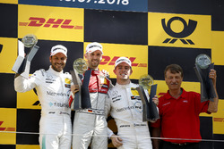 Podium: Race winner René Rast, Audi Sport Team Rosberg, second place Gary Paffett, Mercedes-AMG Team HWA, third place Paul Di Resta, Mercedes-AMG Team HWA