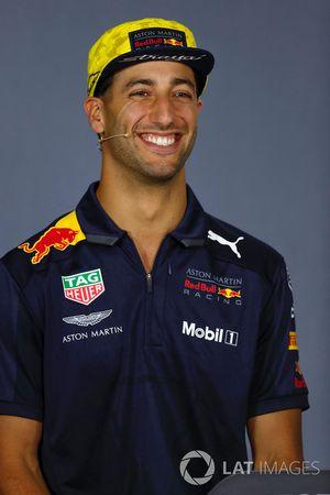 Daniel Ricciardo, Red Bull Racing, en la conferencia de prensa