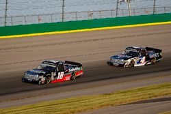 Noah Gragson, Kyle Busch Motorsports, Toyota Tundra Safelite AutoGlass and Todd Gilliland, Kyle Busch Motorsports, Toyota Tundra Mobil 1