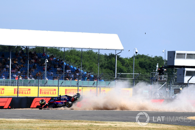 Choque de Brendon Hartley, Scuderia Toro Rosso STR13