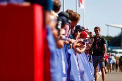 Romain Grosjean, Haas F1 Team, signs autographs for fans