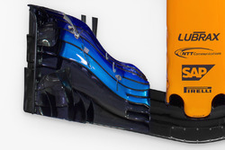 McLaren MCL33 detail voorvleugel