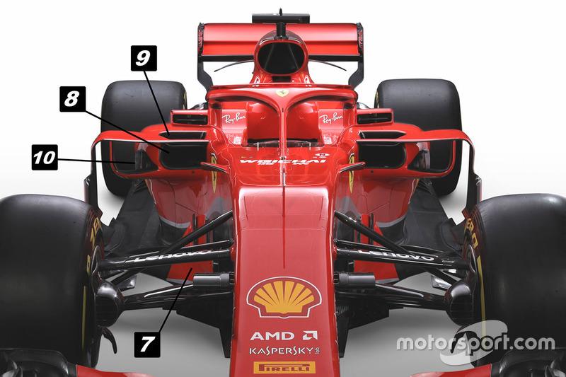 Ferrari SF71H voorzijde