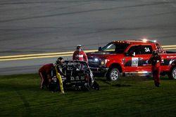 John Hunter Nemechek, NEMCO Motorsports Chevrolet Silverado after the crash