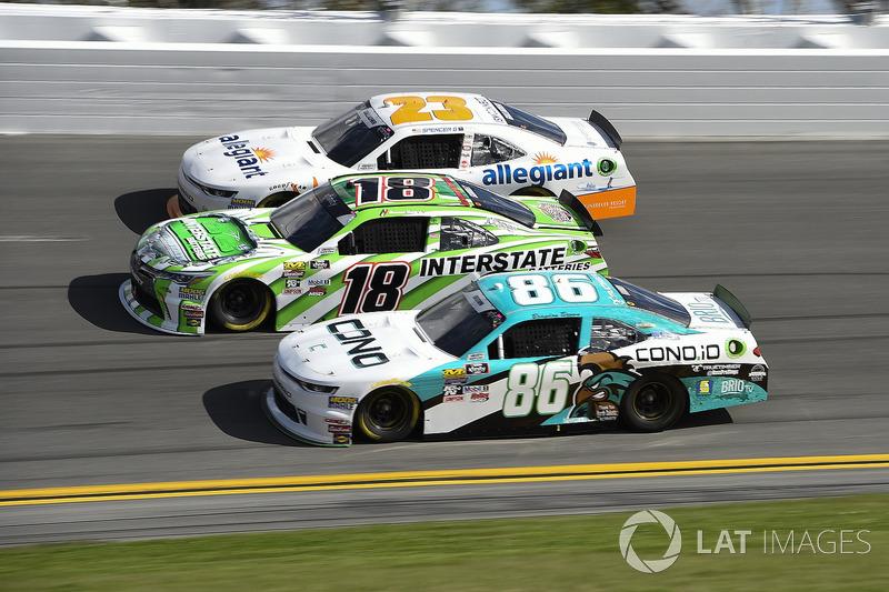 Daniel Suarez, Joe Gibbs Racing, Interstate Batteries Toyota Camry, Brandon Brown, Brandonbilt Motor