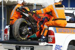 Разбитый мотоцикл Мики Каллио, Red Bull KTM Factory Racing