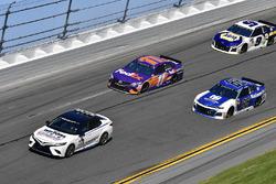 Toyota Camry pace car, Alex Bowman, Hendrick Motorsports Chevrolet Camaro, Denny Hamlin, Joe Gibbs R