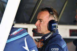 Paddy Lowe, Williams Shareholder and Technical Director on the Williams pit wall gantry
