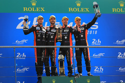 LMP2 podium: winners Roman Rusinov, Andrea Pizzitola, Jean-Eric Vergne, G-Drive Racing, Alexander Krylov, G-Drive Racing team principal