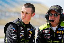 Austin Cindric, Team Penske, Ford Mustang Fitzgerald Glider Kits and crew chief Brian Wilson