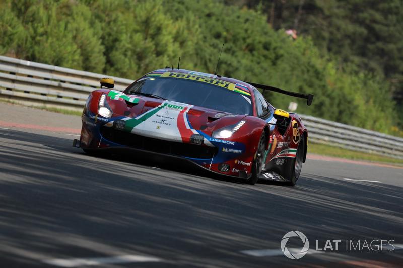 40: #71 AF Corse Ferrari 488 GTE EVO: Davide Rigon, Sam Bird, Miguel Molina, 3'50.246
