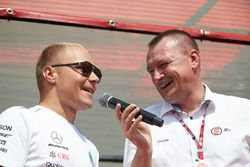 Valtteri Bottas, Mercedes AMG F1, is interviewed on stage