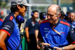 Sean Gelael, Toro Rosso, and Franz Tost, Team Principal, Toro Rosso, on the grid