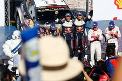 Podium: les vainqueurs Sébastien Ogier, Julien Ingrassia, M-Sport Ford WRT Ford Fiesta WRC