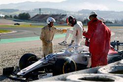 Charles Leclerc, Alfa Romeo Sauber C37 crashes