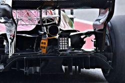 Sauber C37, detail rear