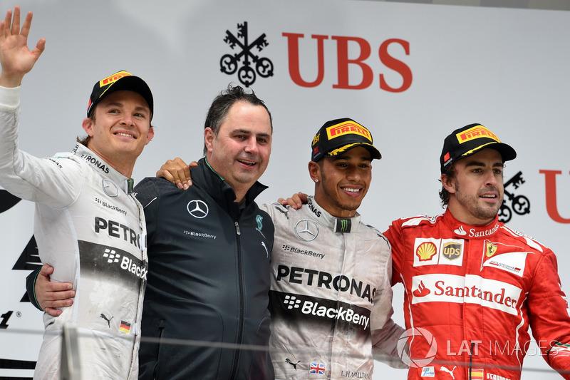 Em 2014, único pódio foi no GP da China, atrás de Nico Rosberg e Hamilton, da Mercedes