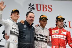 Podium: 1. Lewis Hamilton, Mercedes; 2. Nico Rosberg, Mercedes; 3. Fernando Alonso, Ferrari