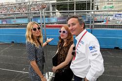 Actress Sienna Miller with Alejandro Agag, CEO, Formula E
