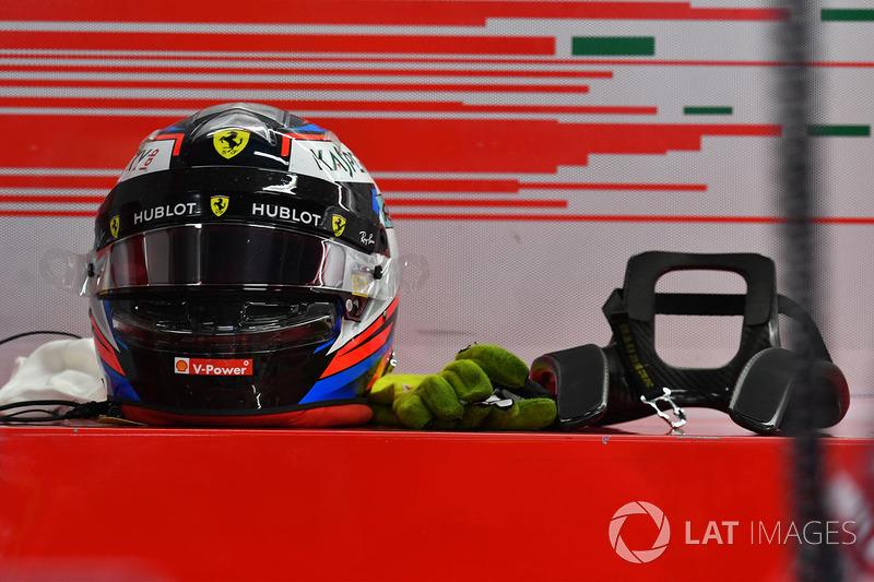 El casco de Kimi Raikkonen, Ferrari
