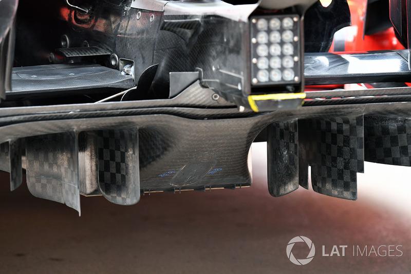 Детали диффузора Ferrari SF71H