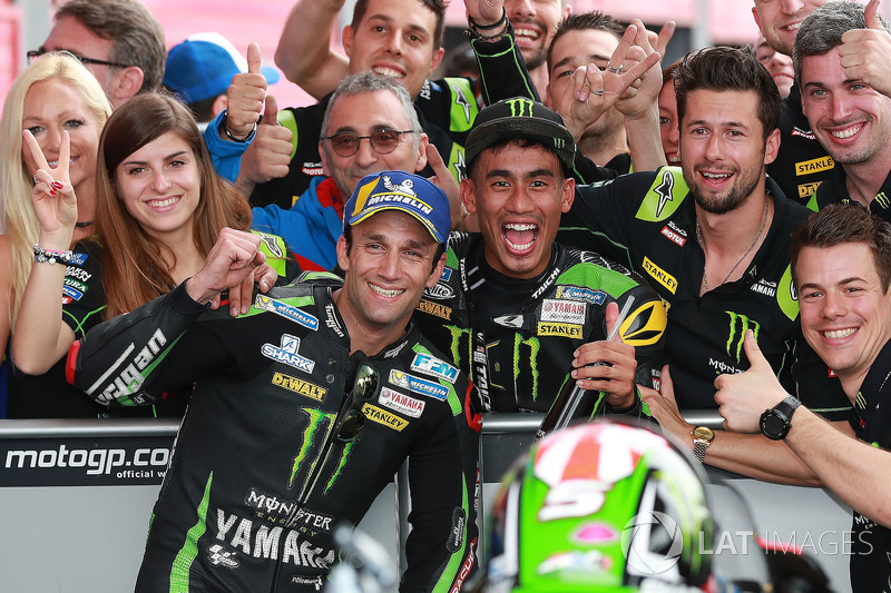 Second place Johann Zarco, Monster Yamaha Tech 3, Hafizh Syahrin, Monster Yamaha Tech 3