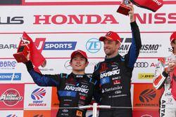 Podium: second place #100 Team Kunimitsu Honda NSX Concept GT: Naoki Yamamoto, Jenson Button