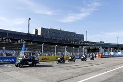 Sébastien Buemi, Renault e.Dams, Nicolas Prost, Renault e.Dams, nella drivers parade