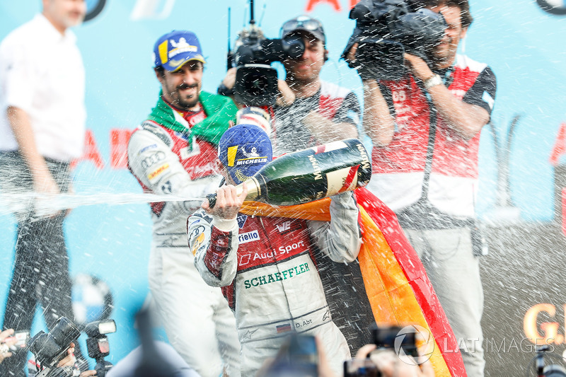 Perayaan podium ePrix Berlin
