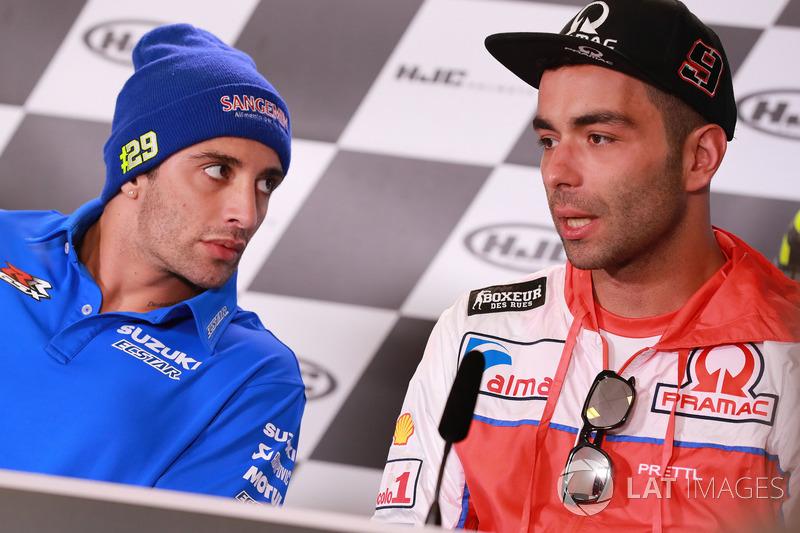 Andrea Iannone, Team Suzuki MotoGP, Danilo Petrucci, Pramac Racing