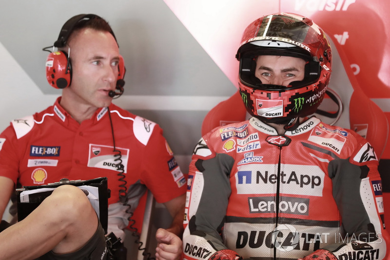 Jorge Lorenzo, Ducati Team, et Cristian Gabarrini