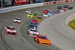 Kyle Larson, Chip Ganassi Racing, Chevrolet Camaro ENEOS, Cole Custer, Stewart-Haas Racing, Ford Mustang Haas Automation and Christopher Bell, Joe Gibbs Racing, Toyota Camry Rheem