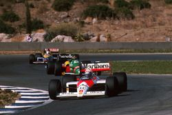 Alain Prost, McLaren MP4/4, Thierry Boutsen, Benetton B188, Nigel Mansell, Williams FW12