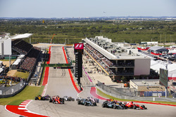 Sebastian Vettel, Ferrari SF70H, Lewis Hamilton, Mercedes AMG F1 W08, Valtteri Bottas, Mercedes AMG F1 W08, Kimi Raikkonen, Ferrari SF70H