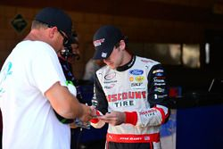 Ryan Blaney, Team Penske Ford signing autograph for a fan