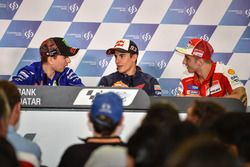 Jorge Lorenzo, Yamaha Factory Racing; Marc Marquez, Repsol Honda Team; Andrea Iannone, Ducati Team