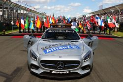 The FIA Safety Car on the grid