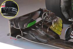 Détails de l'aileron avant de la McLaren MP4-31