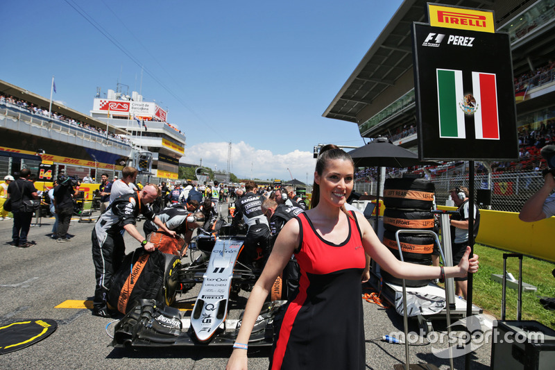 Chica de la parrilla de Sergio Pérez, Sahara Force India F1 VJM09