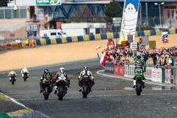 #11 Kawasaki: Grégory Leblanc, Mathieu Lagrive, Fabien Foret takes the win