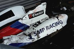 Das Auto von Matevos Isaakyan, SMP Racing, nach Crash