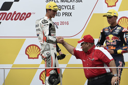 Podium: race winner Francesco Bagnaia, Aspar Team Mahindra Moto3, Mufaddal Choonia, Aspar Team Mahindra
