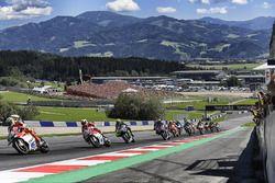 Andrea Iannone, Ducati Team; Andrea Dovizioso, Ducati Team; Valentino Rossi, Yamaha Factory Racing